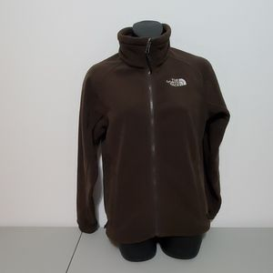The North Face brown zip up jacket small